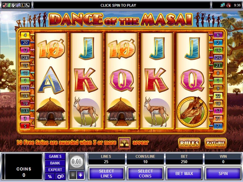 Online slot machine wins